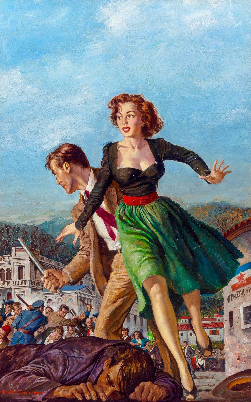 Paperback cover for Treachery in Trieste